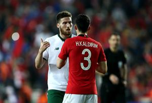 Matt Doherty (left) has had to bide his time for a chance to impress at international level (Tim Goode/PA)