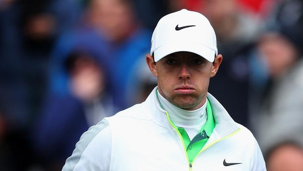Rory McIlroy endured a frustrating first round in the US Open