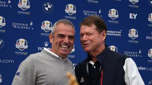 European Ryder Cup captain Paul McGinley, pictured left, has no concerns over Rory McIlroy