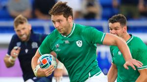 Iain Henderson on the charge for Ireland at the World Cup in Japan (Adam Davy/PA)
