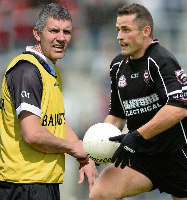Eamonn O'Hara (right) and Sligo boss Kevin Walsh soldiered together for four seasons before the veteran footballer finally hung up his boots this year
