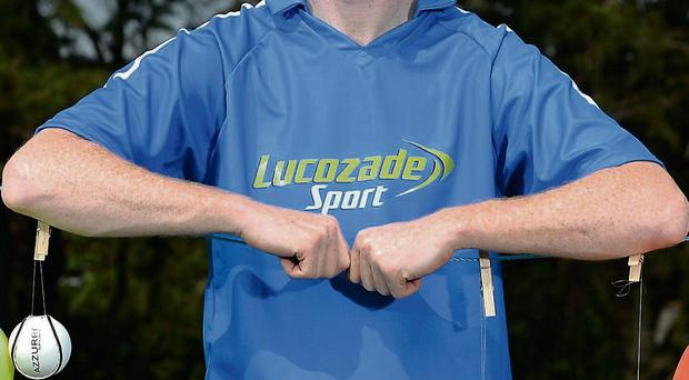 Kerry star Colm Cooper at yesterday's announcement of the Lucozade Sport Club Crusade. Adult sports clubs can register for the Lucozade Sport Club Crusade at www.lucozadesport.ie