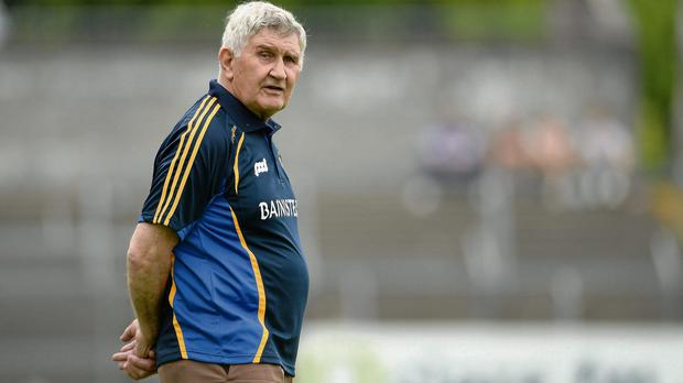 Mick O'Dwyer keeps a close eye on the action in his last match as an inter-county manager
