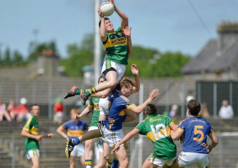 Kerry's Cathal Ó Lúing produces an incredible leap against Tipperary