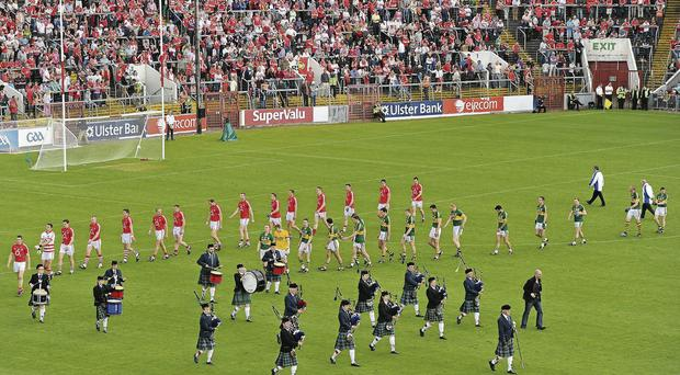The parade at this year's Munster final