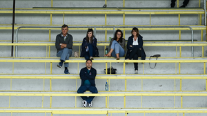 Colm O'Rourke with his wife Patricia, daughter Elaine and Sinead O'Sullivan at the Meath SFC match between Simonstown Gaels and Skryne last weekend. Photo: Sportsfile