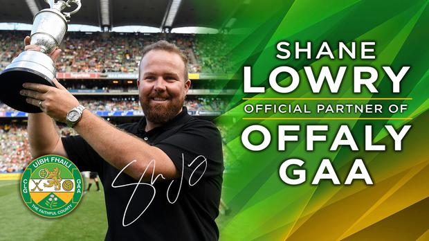 Professional golfer Shane Lowry is the new sponsor of Offaly GAA. Photo: Offaly GAA