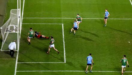 Con O'Callaghan turns away after scoring Dublin's second goal against Mayo in last year's All-Ireland final. Photo: Daire Brennan/Sportsfile