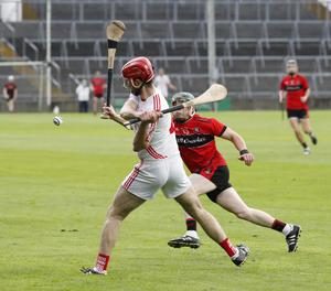 Doon's Tommy Hayes and Adare's Willie Griffin