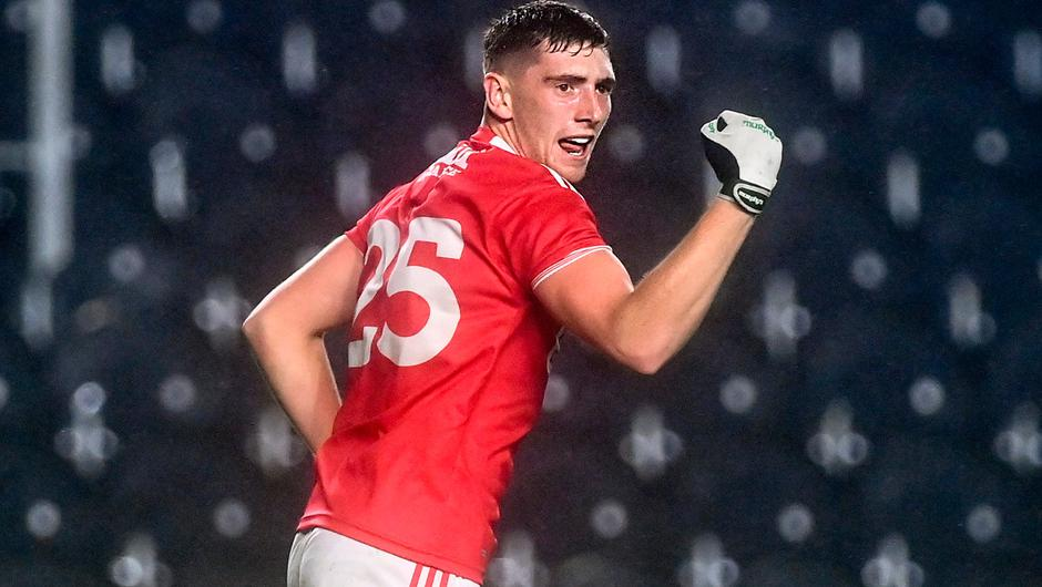 Cork's Mark Keane celebrates after scoring his side's late, late goal during their Munster SFC semi-final match victory over Kerry at Páirc Uí Chaoimh. Photo: Eóin Noonan/Sportsfile