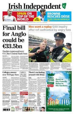 The Irish Independent reports on the story back in 2010