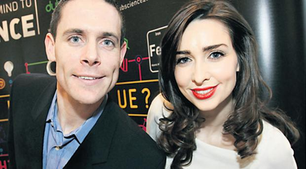 Science Ambassador Aoibhinn Ni Shuilleabhain with Dublin footballer and science teacher Stephen Cluxton at the launch of Dublin City of Science 2012 - she is tipping her native Mayo for a breakthrough