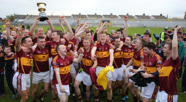 Miltown celebrate winning the Clare championship