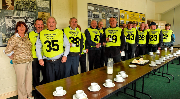 The true amateur spirit of the GAA is perfectly captured in this picture from Sportsfile's 'Season of Sundays', which is now on sale in all good bookshops, as tea lady Maureen Diffley and some 'Maors' enjoy a cuppa before this year's Leitrim v Galway Connacht SFC quarter-final in Carrick-on-Shannon
