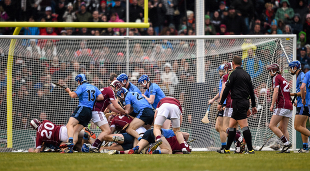 The Fenway Classic between Dublin and Galway in 2015 attracted criticism after a highly-publicised schemozzle (SPORTSFILE)