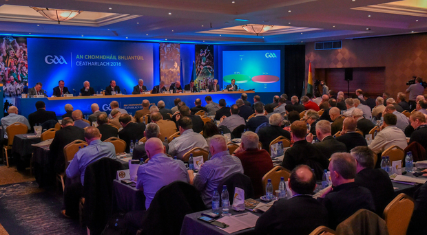 Motion 7 that the All-Ireland finals be moved forward two weeks did not get the required two-thirds support at Congres yesterday. Photo: Matt Browne Photo: Matt Browne / SPORTSFILE