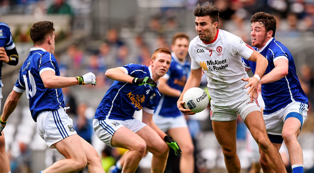 Tiernan McCann is often the leader of the counter-attack and after his antics last year it was good to see him being the outstanding player on the field'
