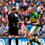 'Kieran can't buy a free,' Fitzmaurice said, as the press corps tried to keep a straight face. Their minds were no doubt wandering back to the Gaelic Grounds in Limerick a few years ago, where Kieran bought a whole batch of frees at knockdown prices against Mayo in the All-Ireland semi-final replay. Photo: Ramsey Cardy
