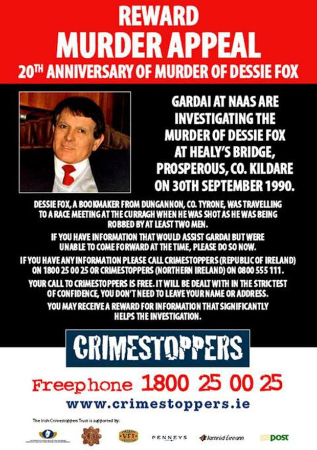 Crimestoppers poster from 2010