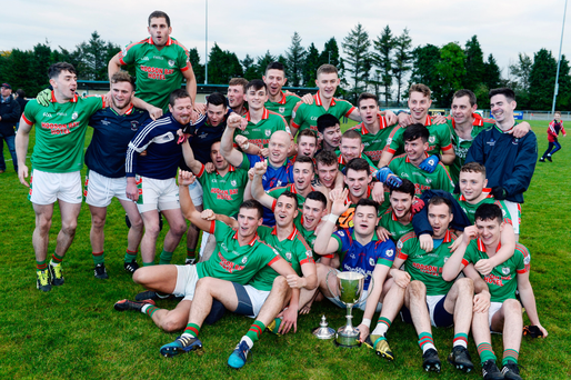 St Brigid's celebrate winning the Roscommon SFC club final on Sunday. The Roscommon senior and intermediate finals took place at the weekend – a full 13 weeks after the county team was eliminated from the All-Ireland race. Photo by Seb Daly/Sportsfile