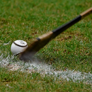Monaghan thought they had a goal on 10 minutes when keeper Hugh Byrne sent home a penalty, but ref Alfie Devine disallowed it as he adjudged Byrne to have struck the sliotar past the 20-metre line. (stock photo)