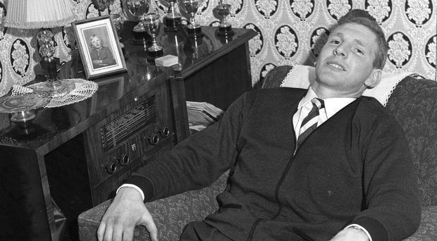 Des Foley, pictured in 1972, at home in Malahide after he won Railway Cup football and hurling medals with Leinster on the same day.