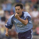 Jason Sherlock celebrates scoring against Derry in 2003 Photo: Sportsfile/David Maher