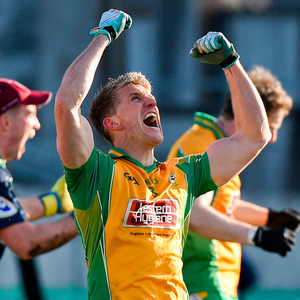 Corofin's Kieran Fitzgerald celebrates after the AIB All-Ireland club semi-final against Moorefield in Tullamore on Saturday. Photo: Sportsfile