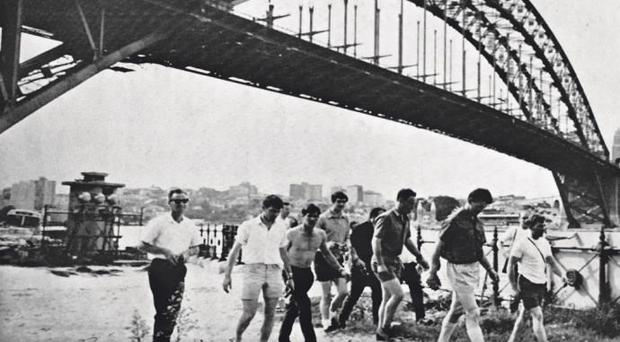 Members of the Meath football team enjoy the sights of Sydney during their historic tour of Australia in 1968