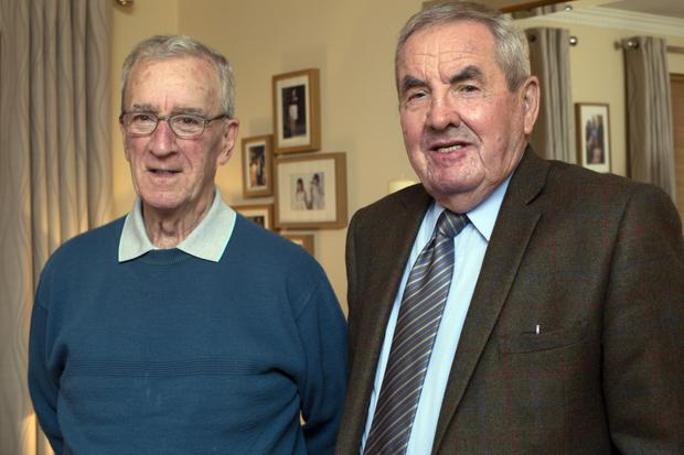 (left to right) Eamonn Potts and Eddie Walsh were trustees of the Paul Mulhere Memorial Scholarship. 'I think what we did was worthwhile,' says Walsh. 'It impacted very favourably on quite a number of people and their families. And it did great honour to Paul.' Photo: Tony Gavin