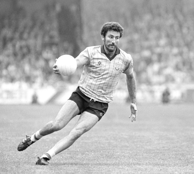 Kieran Duff in action for Dublin in the 1989 Leinster final against Meath. Photo: Sportsfile