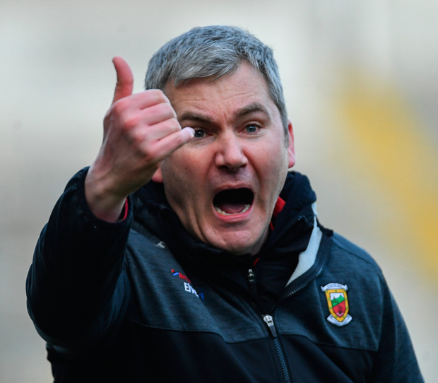 Manager James Horan shouting the instructions. Pic: Sportsfile