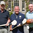 Brian Cody, Brian Kelly and DJ Carey exchange coaching tips in Kilkenny last Monday