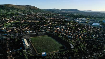 A general view of Casement Park in Belfast. The GAA still hopes to redevelop the venue but should it be planning for just one state-of-the-art stadium in each province? Photo: Stephen McCarthy/Sportsfile