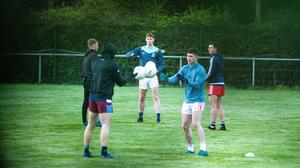 The Dublin training session took place at an Innisfails GAA club pitch off the Malahide Road