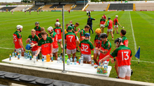 James Stephens players get a drink before the start of yesterday's Kilkenny senior hurling league clash with Danesfort at UPMC Nowlan Park. Photo: Matt Browne