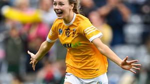 Áine Magill added a minor title to the intermediate title she had already won with Antrim. Photo: Sportsfile