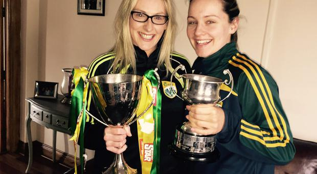 Kerry star Michelle Costello and team-mate Elaine Ryall