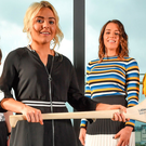 At yesterday's Littlewoods Camogie League launch were Siobhán Flannery (Offaly), Kilkenny's Shelly Farrell, Sarah O'Donovan (Dublin) and Kelley Hopkins (Roscommon). Photo: Sportsfile