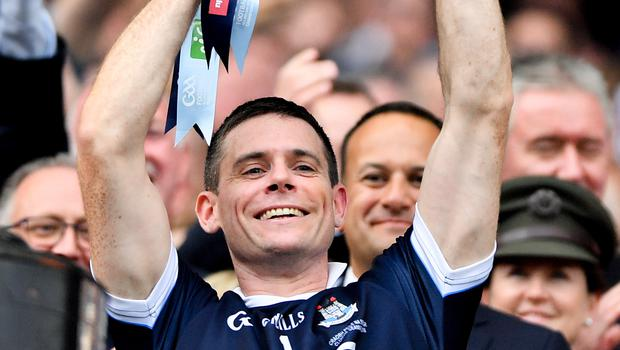 Stephen Cluxton and his Dublin champs will be on the road for the league. Photo: Stephen McCarthy/Sportsfile