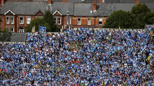 Fans are set to return to Croke Park's Hill 16 for the first time since early 2020. Photo: Stephen McCarthy/Sportsfile