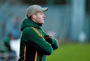 Meath manager Mick O'Dowd near the end of the game