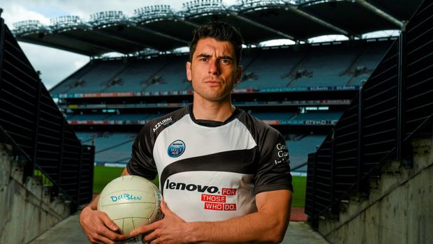 Bernard Brogan at the launch of the Lenovo GAA skills hubs in Croke Park