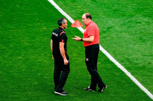 Tyrone's joint-managers Brian Dooher and Feargal Logan