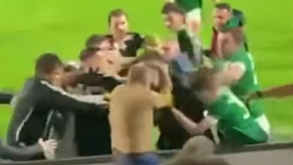 The mass brawl that broke out after the Laois senior football clash between Arles-Killeen and Killeshin
