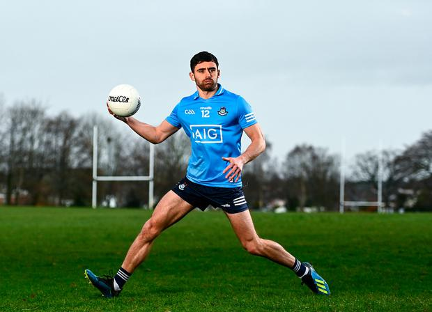 Dublin footballer Niall Scully at the launch of the new virtual AIG Health Plus portal which offers free membership at www.aig.ie/dubgym for all Dublin GAA club players. Photo: Harry Murphy/Sportsfile
