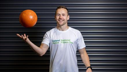 Former Mayo footballer Andy Moran teamed up with Ireland Active to launch National Fitness Day 2021. This year's National Fitness Day will take place on Thursday September 23 and is supported by Sport Ireland, Healthy Ireland and the European Commission, with the common goal of promoting the benefits of physical activity. Photo: Morgan Treacy/INPHO