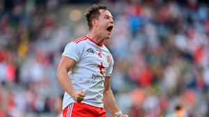 Kieran McGeary shows his delight after the All-Ireland semi-final win against Kerry. Photo: Sportsfile