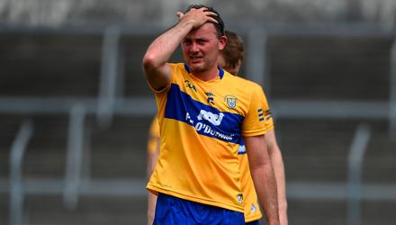 Out of luck: David Tubridy of Clare after the Allianz Football League Division 2 semi-final match between Clare and Mayo at Cusack Park in Ennis. Photo: Brendan Moran/Sportsfile
