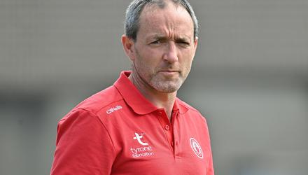 Tyrone joint-manager Brian Dooher. Photo: Brendan Moran / SPORTSFILE
